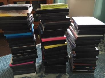DVD discard pile