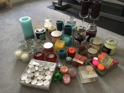 candles pile