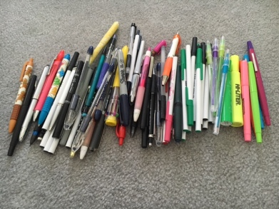 just pens