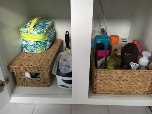 toiletries organized