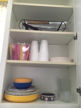 Paper and Plastic items; pet food bowls; grilling accessories
